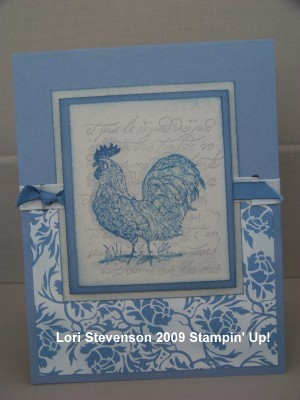 March SC rooster card