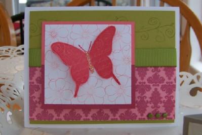 Simple friendship butterfly card Feb SC