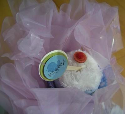 Cupcakes a wrap its a boy