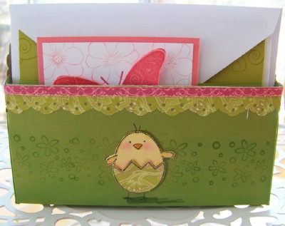 March Stamp Camp Card Basket