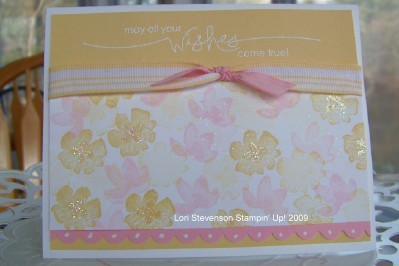 New SAB Blooms Card for March Stamp Camp