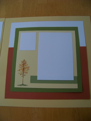 May class make yours 12 x 12 tree page