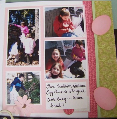 For web easter scrapbook pages second