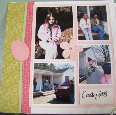 For web easter scrapbook pages first page