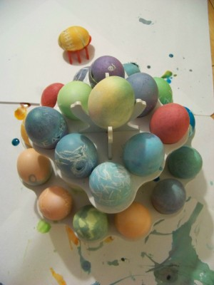 Coloring egges an art