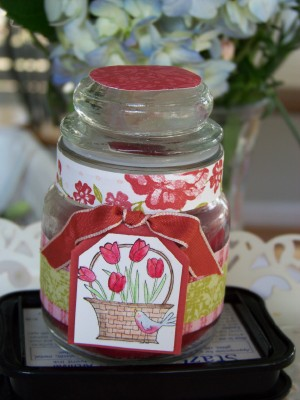 April SC mini jar candle project
