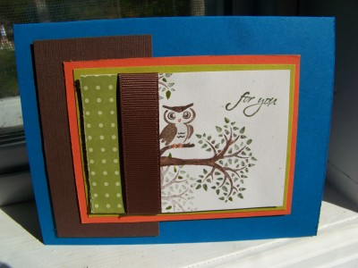 May Stamp Camp owl card