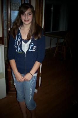 Jill's first day of high school A