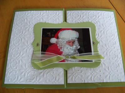 Front of trifold scrapbook