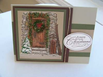 November stamp camp door