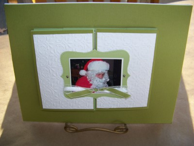 Canvas trifold scrapbook