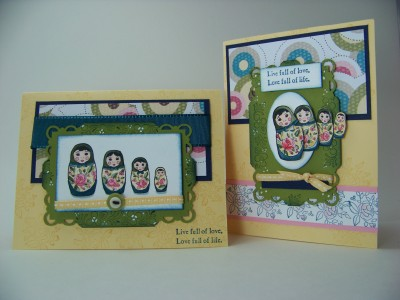 Jan Stamp camp dolls card and demo