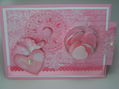 Jan Stamp Camp Medallion shabby Chic Valentine sweet treat