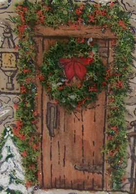 November stamp camp door closeup