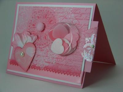 Jan Stamp Camp Medallion shabby Chic Valentine sweet treat side view