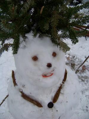 Snowwoman feb closeup