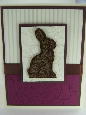 Feb Stamp Camp Updated Choc bunny card