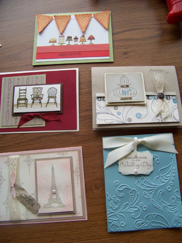 August Stamp Camp Cards
