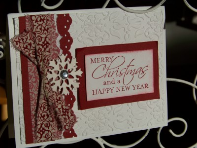 November Christmas card red