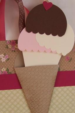 Petal Cone gift bag card